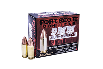 FORTSCOTT 9MM Sub-Munition TUI - 125Gr Handgun Ammo