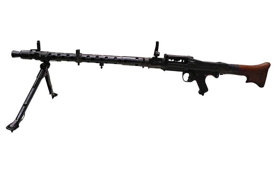WWII ERA, GERMAN MACHINE GUN , MODEL: MG 34 , CALIBER: 8MM